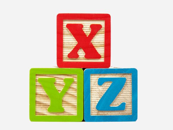 X Y Z in Blocks