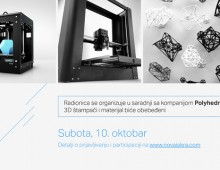 Danko Radulović o osnovama 3D štampe u Novoj Iskri ove subote