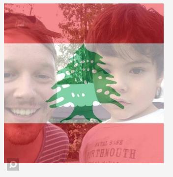 libanska zastava filter