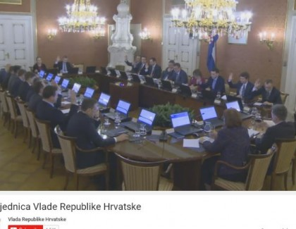 Direktan prenos sednice Vlade Republike Hrvatske na Youtube-u