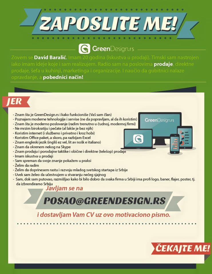 Motivaciono pismo - GreenDesign