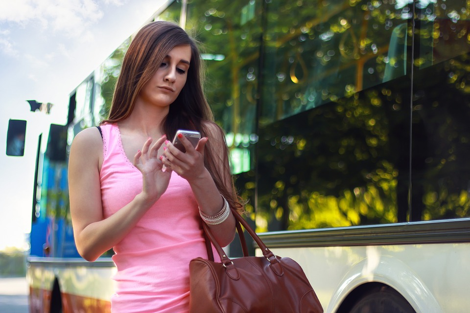 woman mobile