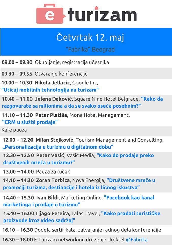 eTurizam 2016 - agenda
