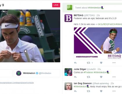 Twitter prvič prenaša športni dogodek v živo