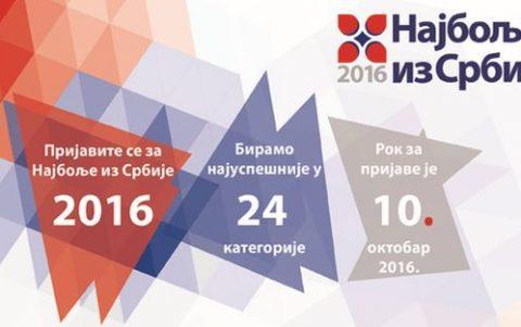 """Prijavite se: Počinje akcija """"Najbolje iz Srbije 2016"""""""