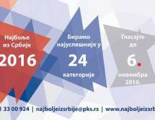 Najbolje iz Srbije 2016: Glasajte za najbolje brendove i kompanije!