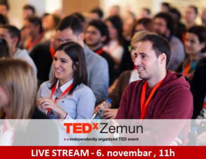 Besplatan prenos TEDxZemun 6. novembra: Pronađi inspiraciju čak i od kuće!