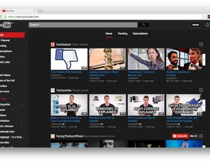 Probajte Youtube u crnoj varijanti!