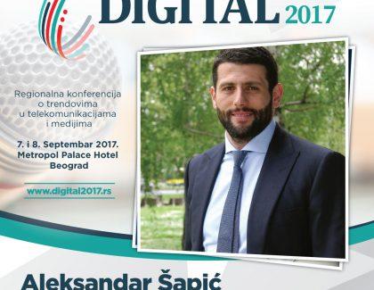 Digital 2017 – Aleksandar Šapić: Društvene mreže su imale najveći efekat u humanitarnim akcijama