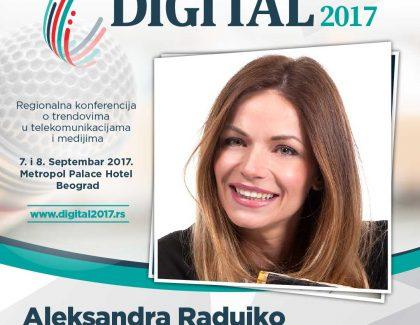 Digital 2017 – Aleksandra Radujko: 200 grama Facebooka, 100 Instagrama i na vrh noža Twitter – te dečije bolesti smo makar pregurali
