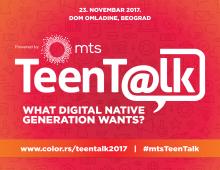 #mtsTeenTalk – Vidimo se 23. novembra u Domu omladine u Beogradu