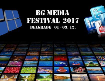 """BG media festival"" od 1. do 3. decembra u Beogradu"
